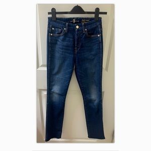 7 For All Mankind high waist vintage straight jean